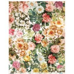 Papel de Arroz 54 x 70 Tapiz Flores
