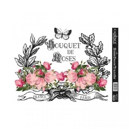 TRANSFER BOUQUET DE ROSES