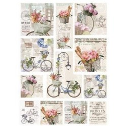 Papel Arroz dec 031M BICYCLE 70 X 50