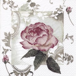 SERVILLETA 33X33CM  ENCHANTING ROSE VINTAGE