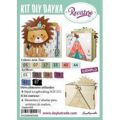 KIT DIY REVISTERO INFANTIL LEON INDIO