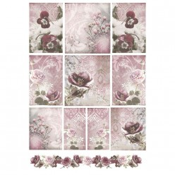 Papel Arroz dec 307 NATALE FLORE 50X35