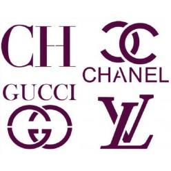 Stencil logo marcas de ropa A4
