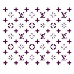 Stencil Fondo Logo Louis Vuitton A4