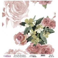 Papel Arroz Fondo Rosas rollo 60X60cm