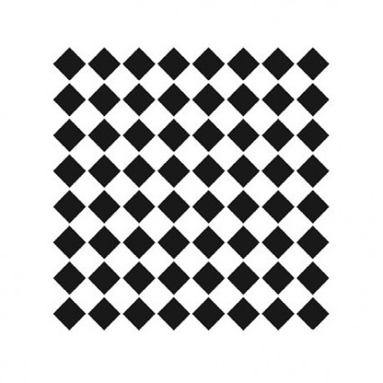 Stencil Rombos 25X25