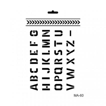 Stencil  ABECEDARIO  21X30