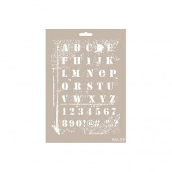 Stencil  LETRAS DISTRESS 21X30