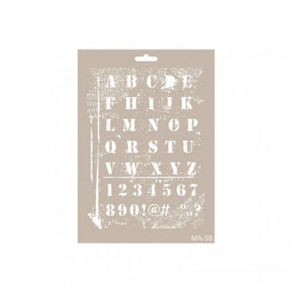 Stencil  LETRAS DISTRESS 21X30