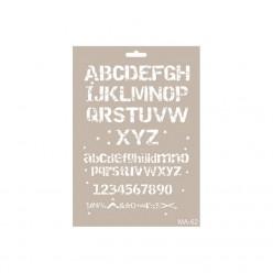 Stencil  ALFABETO 21X30