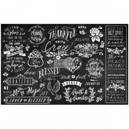 DECOUPAGE PAPER THANFUL & BLESSE 48.26X50.8