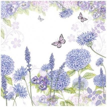 Servilleta Purple Wildflowers