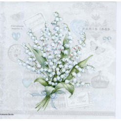 Servilleta LILY OF THE VALLEY 33X33CM